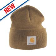 Carhartt A18 Beanie Hat Brown
