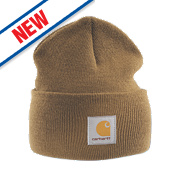 Carhartt A18 Beanie Hat Brown