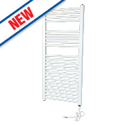 Flomasta Flat Electric Towel Radiator White 1100 x 500mm 444W 1514Btu