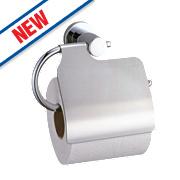 Swirl Covered Toilet Roll Holder Chrome