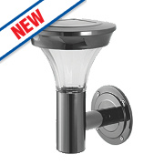 Cole & Bright Gardman Motion Sensor Solar Wall Light Black Nickel