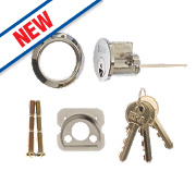 ERA Night Latch Replacement Cylinder Chrome 25mm