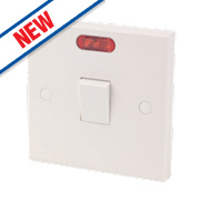 20A DP Switch White with Neon