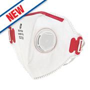 Fold Flat Dust Mask Valved P3 Single