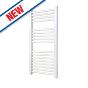 Flomasta Flat Ladder Towel Radiator White 900 x 450mm 354W 1208Btu