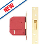 "Union BS 5-Lever Mortice Deadlock Brass 3"" / 81mm"