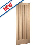 Jeld-Wen Aston 3-Panel Interior Door Oak Veneer 2040 x 826mm