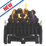 Focal Point Blenheim Black Rotary Control Gas Inset Taper Tray