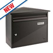 Yale Texas Post Box Black Satin Steel