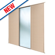 Spacepro 2 Door Sliding Wardrobe Doors Maple / Mirror 2236 x 2260mm
