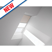 Velux Duo Roof Window Blackout Blind Beige & White 1140 x 1180mm