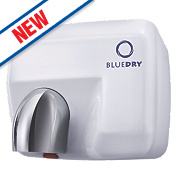 BlueDry Blue Storm High Speed Hand Dryer White 2.3kW