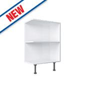Open End Kitchen Base Unit White 300 x 570 x 735mm