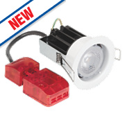 Aurora M10 Fire Rated Fixed 60° Dimmable LED Downlight IP65 Aluminium 10W