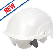 Centurion Spectrum Vented Safety Helemt & Overspecs White