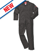"Portwest Bizweld Flame-Resistant Coverall Black Medium 41"" Chest 31"" L"