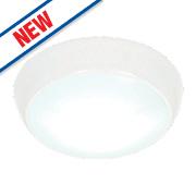 Saxby Vigor LED Flush Bulkhead Gloss White 16W
