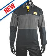 "CAT Rugby Shirt Black/Grey Medium 38-40"" Chest"