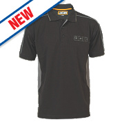 "JCB Polo Shirt Black Extra Large 44"" Chest"