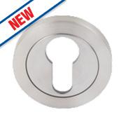 Eurospec Contemporary Euro Profile Escutcheon Sat Stainless Steel 52mm