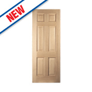 Jeld-Wen Oregon 6-Panel Interior Door Oak Veneer 1981 x 686mm