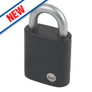 Yale Maximum Security Steel Open Shackle Padlock 47mm