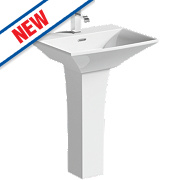Munich Full Pedestal Basin 1 Tap Hole 600mm