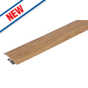 Vitrex Variable Height Wood/Laminate Floor Threshold Medium Oak 50 x 900mm