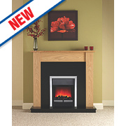 Be Modern Linshaw Eco Contemporary Electric Fire Suite Natural Oak Finish 2kW