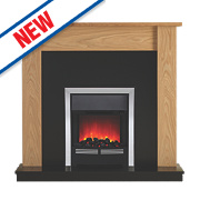 Be Modern Penshaw Eco Contemporary Electric Fire Suite Natural Oak Finish 2kW