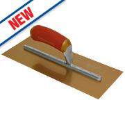 "Marshalltown Gold Stainless Steel Plastering Trowel 16"" x 5"""