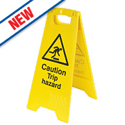 Caution Trip Hazard A-Frame Safety Sign 600 x 290mm
