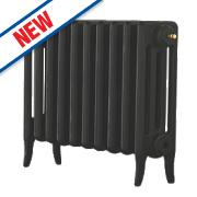 Arroll Neo-Classic 4-Column Cast Iron Radiator Black Primer 460 x 634mm