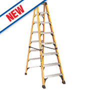 DeWalt DXL3410-08E Swingback Step Ladder Fibreglass 8-Tread 2.44m