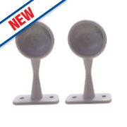 Rothley Colorail Wardrobe/Towel Rail End Supports 25mm Pack of 2