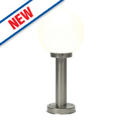 Saxby Pallo 28W Brushed Stainless Steel Post Light