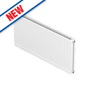 Barlo Round-Top Double Panel Plus Radiator White 400 x 1100mm