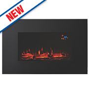 Focal Point Charmouth Black Remote Control Electric Wall-Mounted Fire