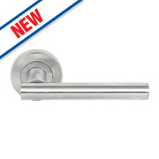 Smith & Locke T Bar Lever on Rose Door Handles Pair Satin Chrome