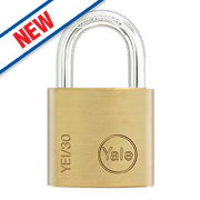 Yale Brass Open Shackle Padlock 30mm