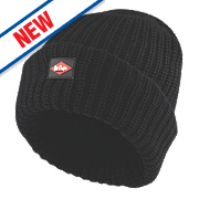 Lee Cooper Heavy Knit Beanie Hat Black