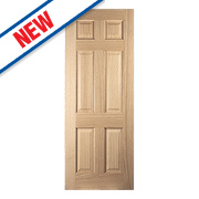 Jeld-Wen Oregon 6-Panel Interior Door Oak Veneer 1981 x 762mm