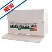 BG 10-Way Dual RCD Metal Consumer Unit & 10 MCBs