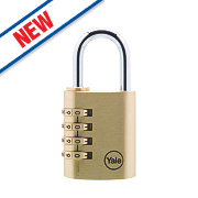 Yale Brass 4-Dial Combination Padlock 40mm