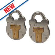 Squire 440T Old English Galvanised Steel Padlocks 51mm Pack of 2
