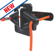 Skipper Retractable Barrier Cord Strap Holder / Receiver Black