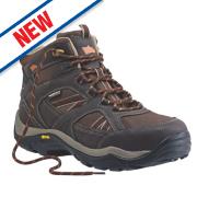 Hyena Ravine Waterproof Safety Boots Brown Size 8