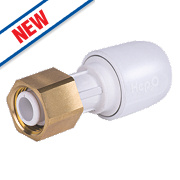 Hep2O Push-Fit Straight Tap Connector 15mm x ½""