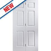 Jeld-Wen Bostonian 6-Panel Interior Bi-Fold Door Primed 1950 x 750mm