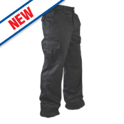 Lee Cooper Classic Cargo Trousers Black 36